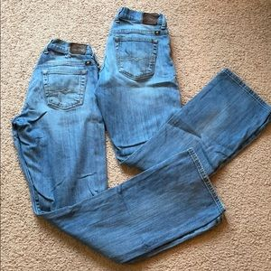 TWO pairs of lucky brand women's jeans